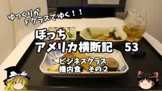 【ゆっくり】アメリカ横断記53 ビジネスクラス 機内食 その2