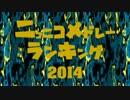 ニコニコメドレーランキング2014(総決算)