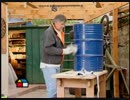 ドラム缶でバーベキューグリルを作る