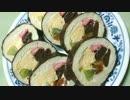 【騙されるな!】巻き寿司みたいなロールケーキ作ってみた(´・ω・`)
