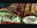 ズッキーニのベーコンチーズバーガー