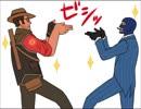 【手描きTF2】スナイパーとスパイでスタイリッシュいちまんじゃく