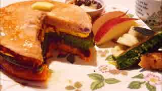 【朝ごはん】野菜のカラフルパンケーキ【