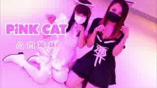 【凸凹姉妹】姉妹でPiNK CAT踊ってみた【