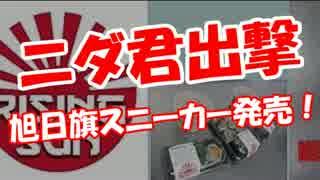 【ニダ君出撃】 旭日旗スニーカー発売!