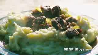 マッシュポテトとビーフステーキシチュー