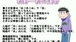 【松野家】六つ子を占ってみた【姓名判断】