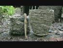 ホモと学ぶかごと石手斧.Baskets and stone hatchet