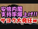 【在日速報】安倍内閣支持率が激伸び!!甘利大臣辞任で株上げ成功!!