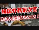 【韓国外務第次官】 日本大使話があるニダ!