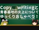 Copy__writingと青春基地の炎上についてゆっくりおしゃべり!