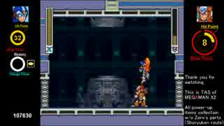 【TAS】MEGAMAN X2 (ロックマン X2) all upgrade in 31:24.93