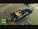 ドローンで見るウクライナ内戦の激戦区跡