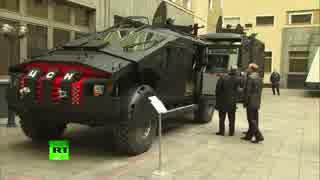 プーチンが ヴィンペル部隊の新型装甲車両を視察