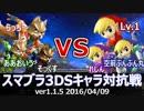 【スマブラ3DS】フォックス軍vsトゥーンリンク軍対抗戦(ストック引継/3on3)