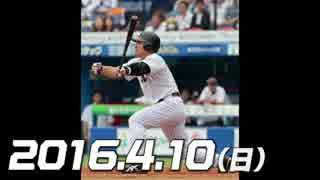 プロ野球2016 今日のホームラン 2016.4.10