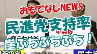 【民進党支持率】 崖ぷちぷちぷち!