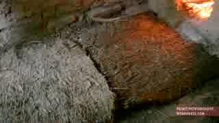 ホモと学ぶ樹皮繊維の織物.Woven bark fiber