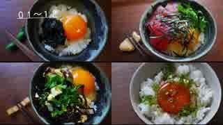 【TKG】一人卵かけご飯祭りしてみた・前編【48種】