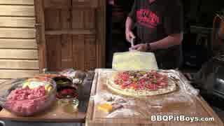 ベーコンチーズバーガーピザ