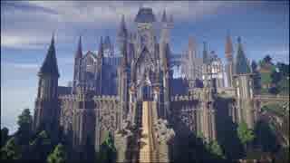 【Minecraft】スパフラにお城を生やしてみ