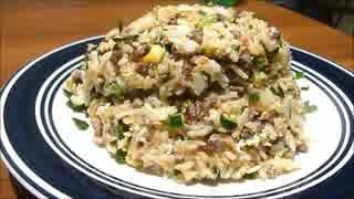 アメリカの食卓 572 牛ひき肉ニラチャーハ
