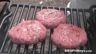 海老と牛肉のハンバーガー