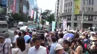 【参院選】7月3日銀座 時間を守らない共産党に日本のこころが反撃