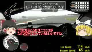 【レーシング車載】ゆっくりたちとダウン