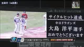 【中日】大島 史上64人目のサイクルヒット