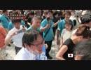 Makoto Sakurai shaking hands with everyone Tokyo Governor's Candidate Street address speech in Tanashi H 28/07/17
