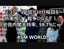 パヨク「安倍が稲田を防衛相に!戦争になるぞ!」内閣支持率、59.7%にw