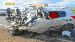 【衝撃映像】ロシアの危険な交通事故2016_