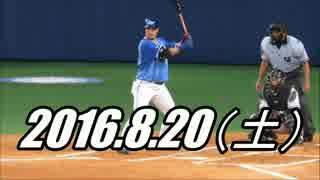 プロ野球2016 ホームラン 2016.8.20