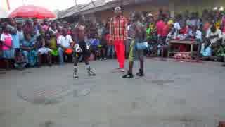 ガーナのストリートボクシングレベルがハ