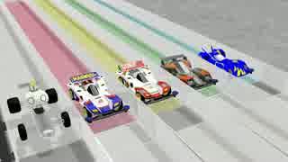 【MMD】物理演算で走るミニ四駆レース