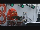 青森県のゆるキャラ にゃんごすた~のドラム  <カノンロックver>