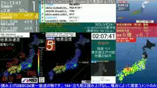 【地震】鳥取県中部 2016年10月21日 最大