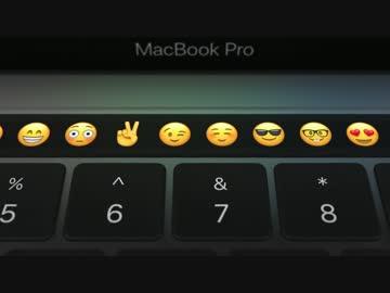 Touch Barの表示はアプリケーションごとに異なる