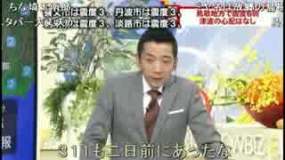 鳥取地震ミヤネ屋地震速報(ニコニコ実況付)