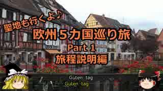 【ゆっくり】欧州5カ国巡り旅  1 旅程説