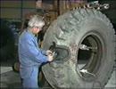 大型タイヤのパンク修理手順(バイアスタイヤ)