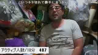 よっさん生放送中に茨城県北部で震度6弱の地震発生   2016年12月28日
