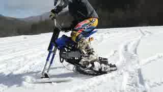 スノーバイク 前:スノーボード 後:キャタ