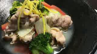香りよし!鶏肉と白菜の柚子蒸し【簡単ボ