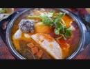 ベトナムの屋台 朝食ハムエッグ