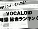 2017.1【VOCALOID】ニコニコ月間ランキング!