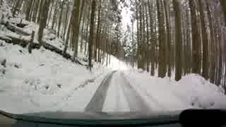 雪の京都・車載動画【南丹~京都市北部】