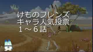 けものフレンズキャラ人気投票(1話~6話