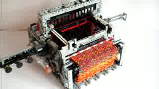 LEGOで作った機織り機
